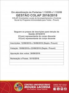 Inscrições e Posse 2016 2018-1